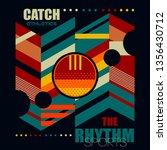catch the rhythm geometric t... | Shutterstock .eps vector #1356430712