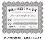 grey diploma or certificate... | Shutterstock .eps vector #1356441155