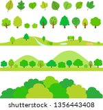 green trees divider and footer... | Shutterstock .eps vector #1356443408