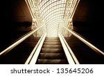 empty escalator stairs ... | Shutterstock . vector #135645206
