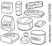 vector set of snack | Shutterstock .eps vector #1356457058