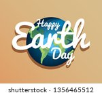 happy earth day | Shutterstock .eps vector #1356465512