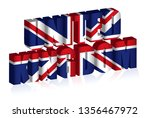 3d uk text or background of... | Shutterstock .eps vector #1356467972
