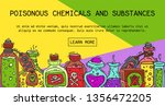 poisonous chemicals and... | Shutterstock .eps vector #1356472205