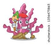 artist pink seaweed in the... | Shutterstock .eps vector #1356475865