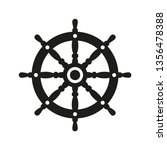 ship steering wheel icon vector | Shutterstock .eps vector #1356478388