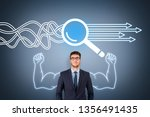 research solution concepts on... | Shutterstock . vector #1356491435