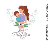 woman with baby avatar character | Shutterstock .eps vector #1356499022