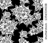 abstract elegance seamless... | Shutterstock .eps vector #1356534038