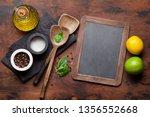 cooking wooden utensils ...   Shutterstock . vector #1356552668