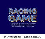 vector stylish logo racing game ... | Shutterstock .eps vector #1356558602