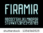 trendy font. minimalistic style ...   Shutterstock .eps vector #1356560525