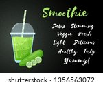 green smoothie cucumber... | Shutterstock .eps vector #1356563072