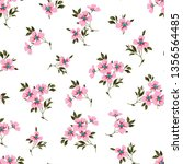 small floral seamless flower... | Shutterstock .eps vector #1356564485