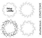 nature wreaths  set of... | Shutterstock .eps vector #1356572345