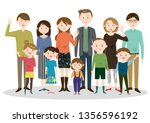 set of various families | Shutterstock .eps vector #1356596192