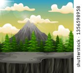 nature landscape with mountain...   Shutterstock .eps vector #1356598958