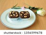 sweet brownies cake   Shutterstock . vector #1356599678