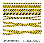 caution and danger tapes.... | Shutterstock .eps vector #1356600572
