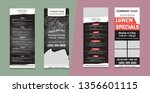 the set of menu templates for... | Shutterstock .eps vector #1356601115