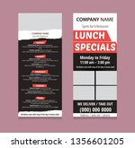 menu template for bar or... | Shutterstock .eps vector #1356601205