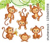 Vector Set With Monkey In...