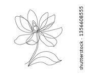magnolia flower icon.... | Shutterstock .eps vector #1356608555