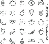 thin line vector icon set  ... | Shutterstock .eps vector #1356620012