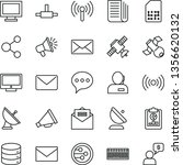 thin line vector icon set  ... | Shutterstock .eps vector #1356620132