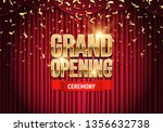 grand opening banner with red... | Shutterstock .eps vector #1356632738