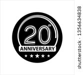 twenty years icon  20 years... | Shutterstock .eps vector #1356634838