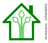 eco house   green home icon  ... | Shutterstock .eps vector #1356638522