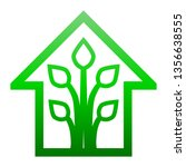 eco house   green home icon  ... | Shutterstock .eps vector #1356638555