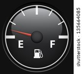 black fuel gage isolated on... | Shutterstock .eps vector #135664085