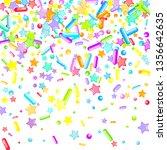 sprinkles grainy. cupcake... | Shutterstock .eps vector #1356642635