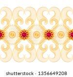 3d rendering. golden stylized... | Shutterstock . vector #1356649208