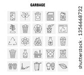 garbage line icon for web ...