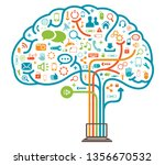 mind braincomputer connection... | Shutterstock . vector #1356670532