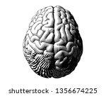 hemispheres human brain... | Shutterstock .eps vector #1356674225