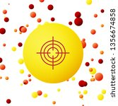 bubble backgraund with target... | Shutterstock .eps vector #1356674858