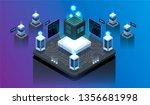 isometric design concept... | Shutterstock .eps vector #1356681998