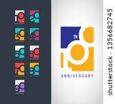 100 year anniversary set 10 20... | Shutterstock .eps vector #1356682745