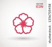 hibiscus flower  icon. hibiscus ... | Shutterstock .eps vector #1356705458