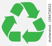 green recycle sign. ecological... | Shutterstock .eps vector #1356728522