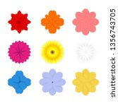 set of colorful spring flowers | Shutterstock .eps vector #1356743705