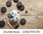 ice cream with chocolate and... | Shutterstock . vector #1356745178