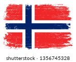 grunge norway flag | Shutterstock .eps vector #1356745328