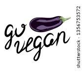vector illustration of eggplant....   Shutterstock .eps vector #1356753572