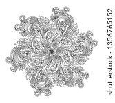 antique mandala round... | Shutterstock .eps vector #1356765152