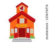 vector school building | Shutterstock .eps vector #135676976